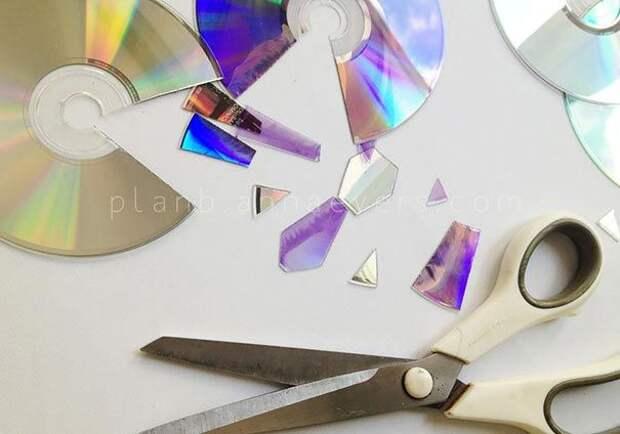 компакт-диск своими руками, идеи старые диски