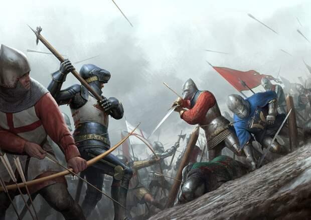 Средневековый воин отлично владел одним типом оружия, а не распылялся на многие. /Фото: pikabu.ru