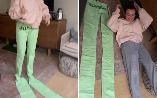 Канадка заказала джинсы, которые подошли бы человеку с трехметровыми ногами