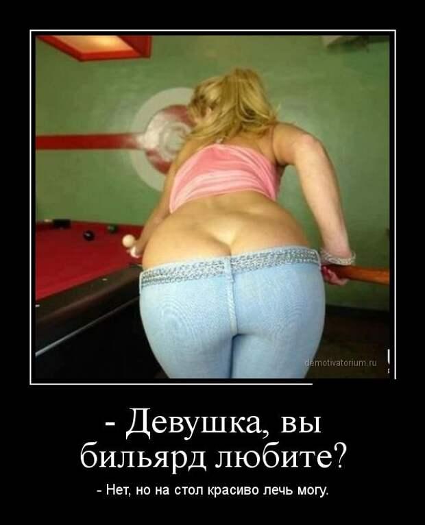 Одна блондинка — другой: — А я вот со своим футбол смотрю!...