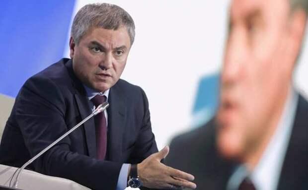 Володин прокомментировал украинские санкции против Чемезова