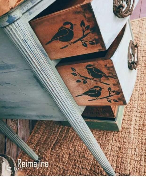 Комоды с птичками (2подборка)