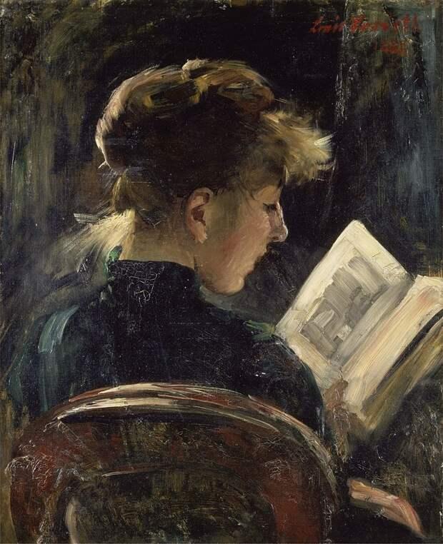 Lovis Corinth - Lesendes Mädchen (1888)