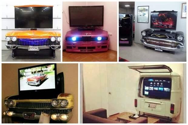 Тумбочки под телевизор Стиль, Фабрика идей, дизайн, интересное, машины, фантазия, что сделать