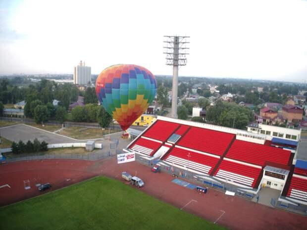 Нижегородцы на воздушном шаре поддержали олимпийских спортсменов