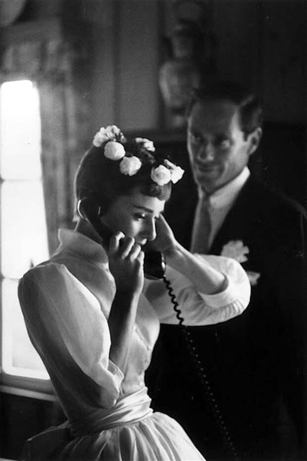 Бракосочетание Одри Хепберн с Мелом Феррером.