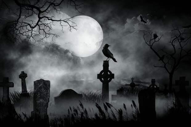 Девочка на кладбище