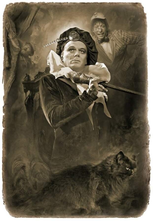 Воланд и Коровьев. «Мастер и Маргарита». Фотоиллюстрации Елены Мартынюк.