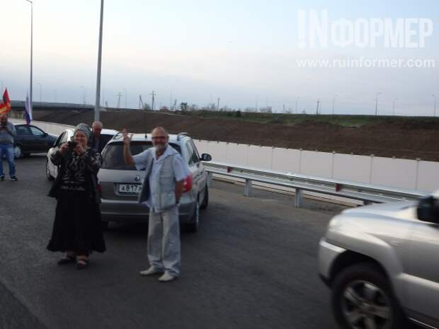 Эксклюзивные кадры запуска автомобильного движения на Крымском мосту