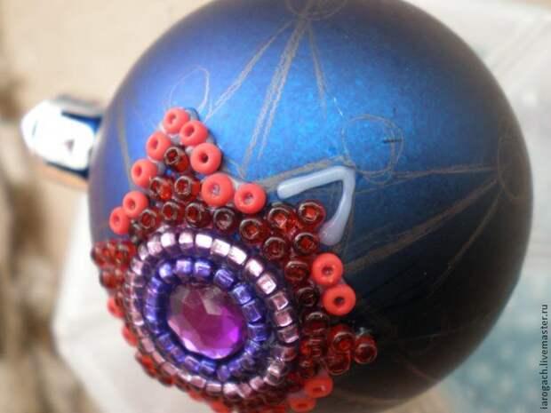 """Творим волшебство: создаем елочную игрушку в технике """"клеевая мозаика"""""""