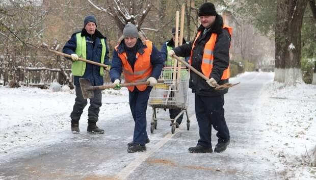 Почти 13,5 тыс дворников ликвидировали последствия снегопада в Подмосковье