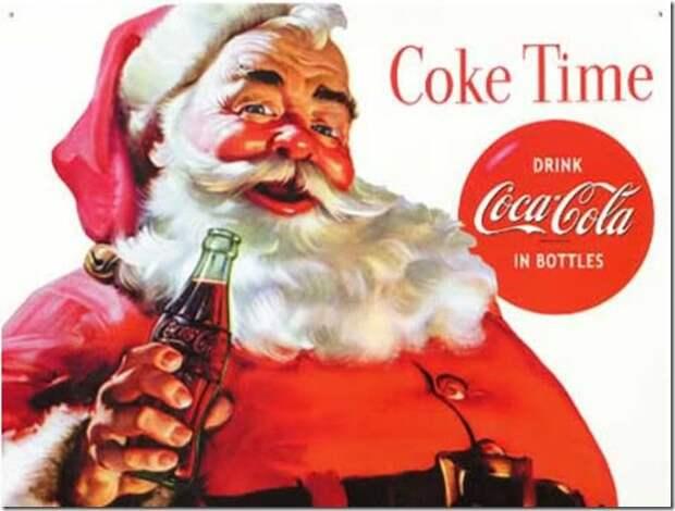 Coca Cola Coke Santa Claus Christmas Posters