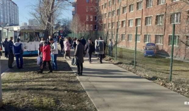 Троллейбус въехал вдерево: ДТП стакси произошло наЭльмаше вЕкатеринбурге