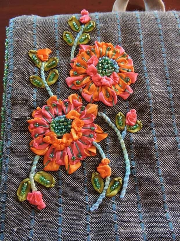 Вышивка цветов: изумительные идеи 3