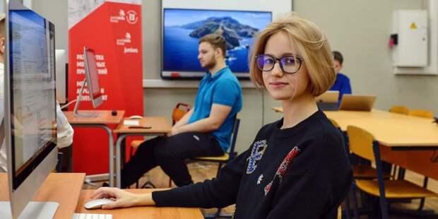 В детском технопарке «Байтик» в Москве создали ИТ-коворкинг для школьников — Сергунина. Фото: Ю. Иванко mos.ru