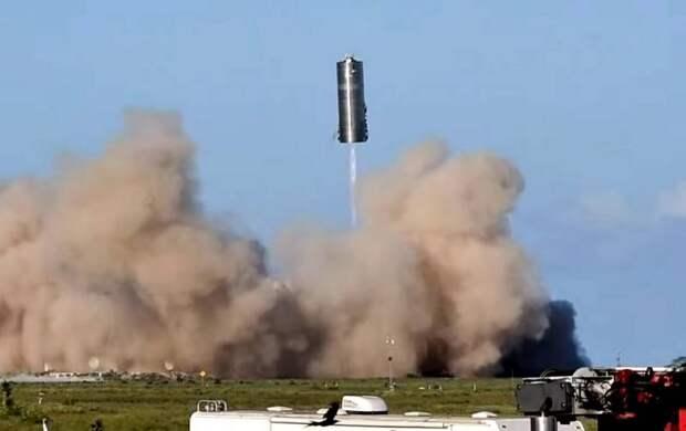 Полноразмерный прототип корабля Starship успешно взлетел