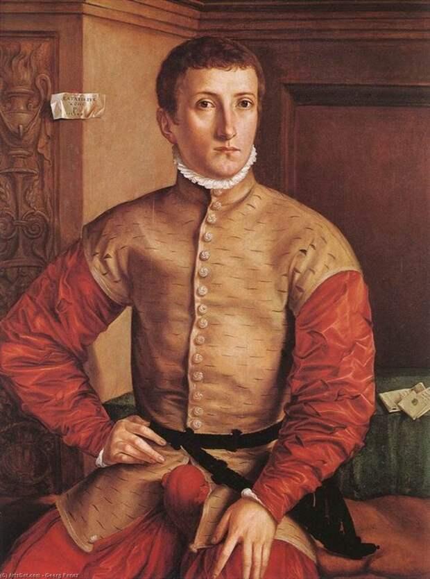 Георг Пенц, «Портрет сидящего юноши», 1544