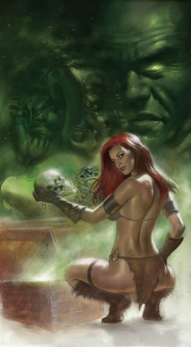 Сексуальный арт на Рыжую Соню.