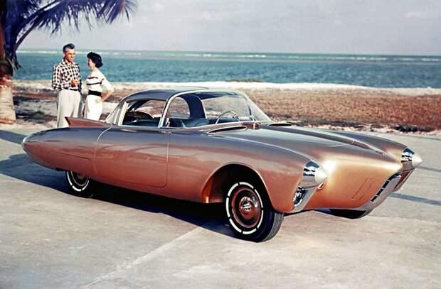 Oldsmobile Golden Rocket, 1956 автомир, аэродинамика, из прошлого, конструкция, обтекаемость. формы