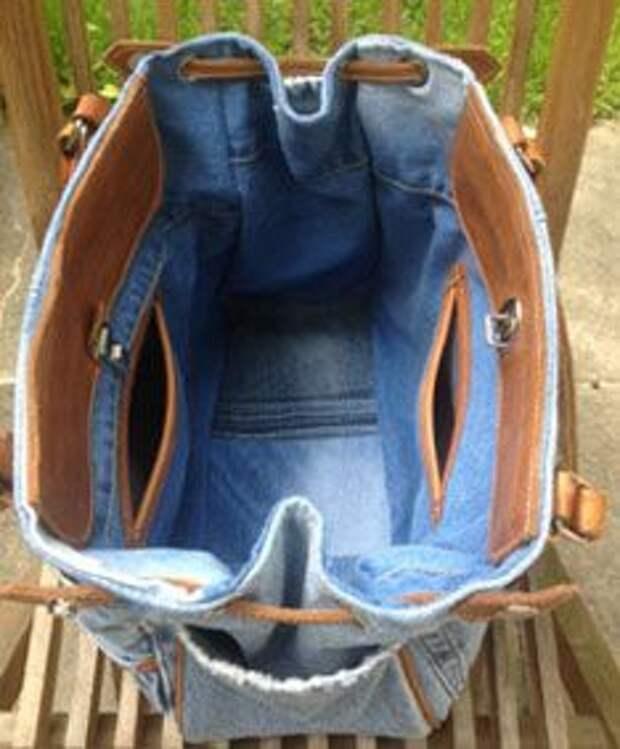 сумки из джинсов