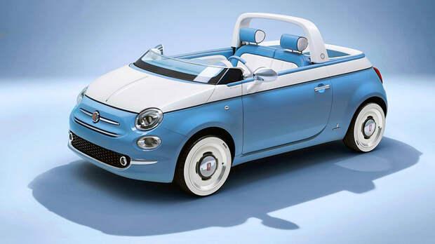 Из Fiat 500 сделали милый пляжный пикап
