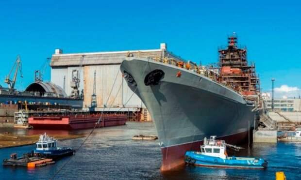 Проходящий ремонт имодернизацию на«Севмаше» ракетный крейсер «Адмирал Нахимов» выйдет находовые испытания испытания в2023 году