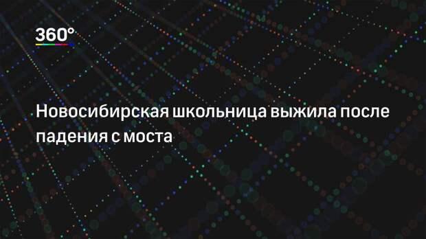 Новосибирская школьница выжила после падения с моста