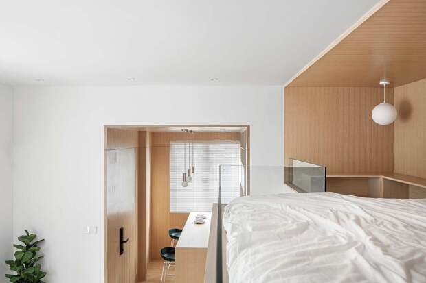Интерьер квартиры площадью 25 кв. метров в Шанхае