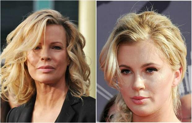 Две восхитительные блондинки, звезда Голливуда Ким Бейсингер и ее великолепная дочь модель Айрленд Болдуин.