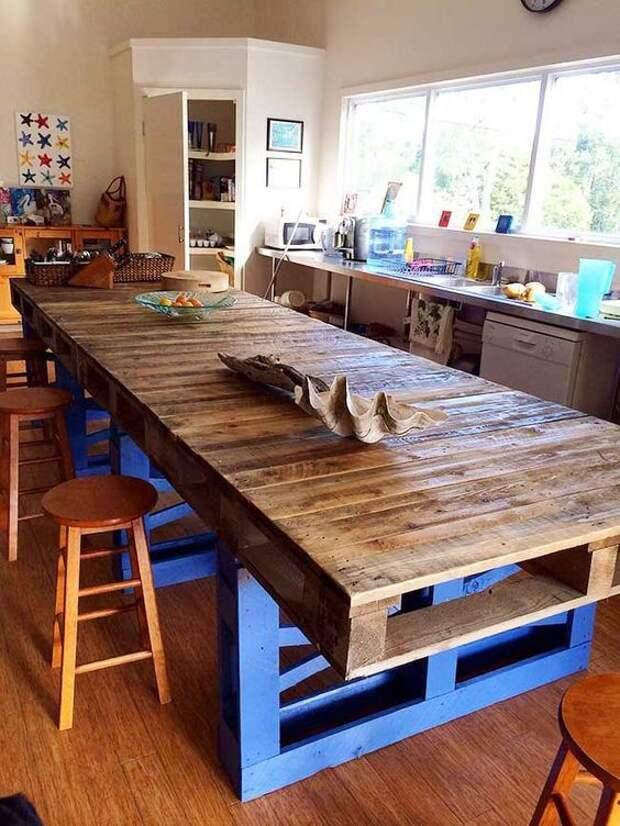Кухонный остров из паллет (подборка)