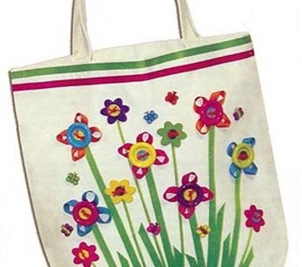 сумка своими руками с цветами
