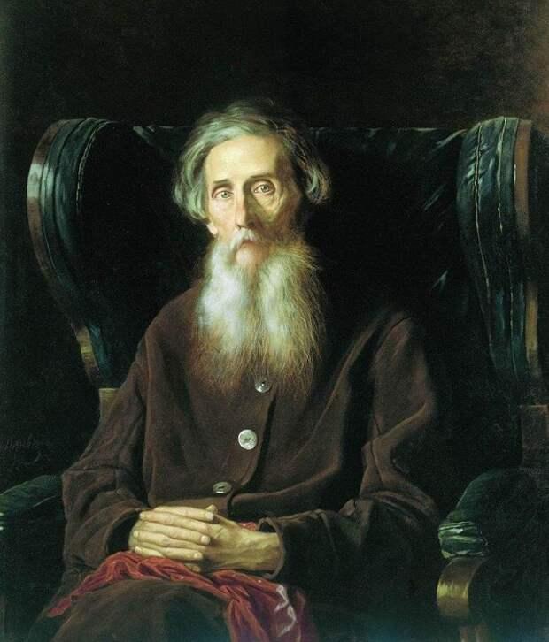 Портрет Владимира Ивановича Даля. (1872).  Автор: В.Перов.