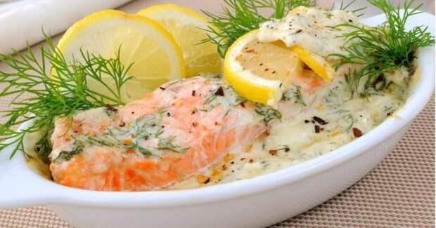 Рыба в сливках в духовке