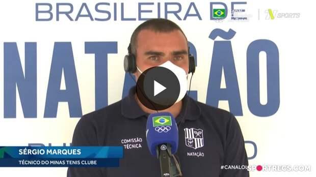 Técnico do Minas, Sérgio Marques exalta a competitividade da Seletiva Olímpica de Natação - Dia 3 do Pré-Olímpico de Natação (21/04/2021)