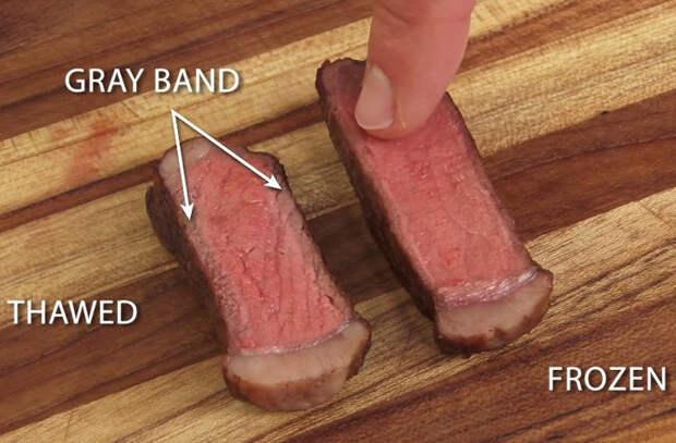 Что будет если бросить на сковороду неразмороженное мясо