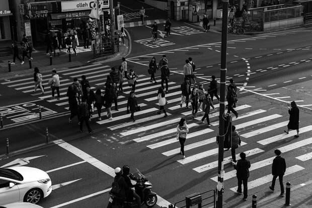 Светофор, Пешеходный Переход, Люди, Перекресток