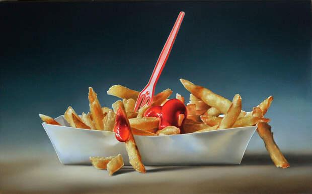 Реалистичные вкусные картины: голодным не смотреть!