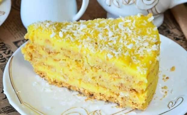 Торт со вкусом пломбира без выпечки