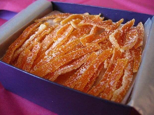 Цукаты из апельсиновых корок.