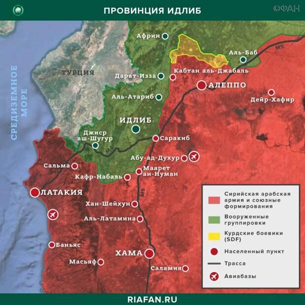 Карта военных действий — Идлиб