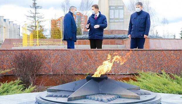 В Мытищах проверили ход ремонта на мемориалах и памятниках ко Дню Победы