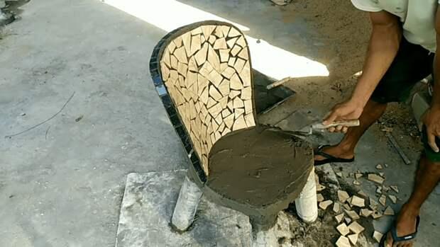 Эффектное преображение старого пластикового стула