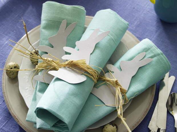 Пасха. Салфетки на праздничном столе