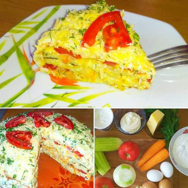 Видео рецепт - Кабачковый торт Кабачок, Закуска, Вкусно, Видео рецепт, Видео, Длиннопост, Рецепт, Кулинария