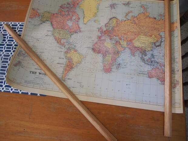 Как повесить карту мира на стену (diy)