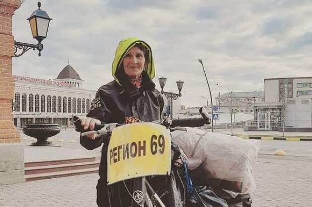80-летняя бабушка из Твери путешествует по миру на велосипеде