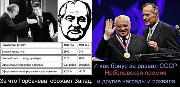 Михаил Горбачёв со страниц рупора либералов призвал Россию и США остановиться