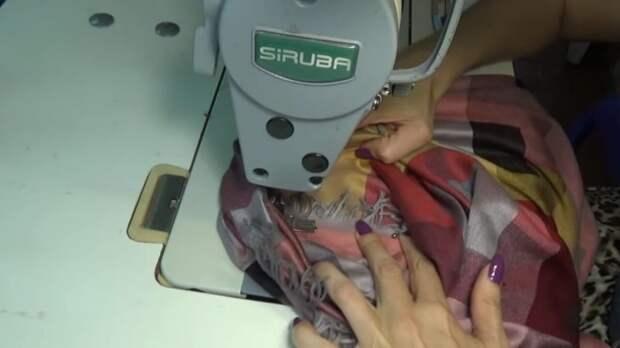 Как сшить стильный блузон оверсайз из палантина