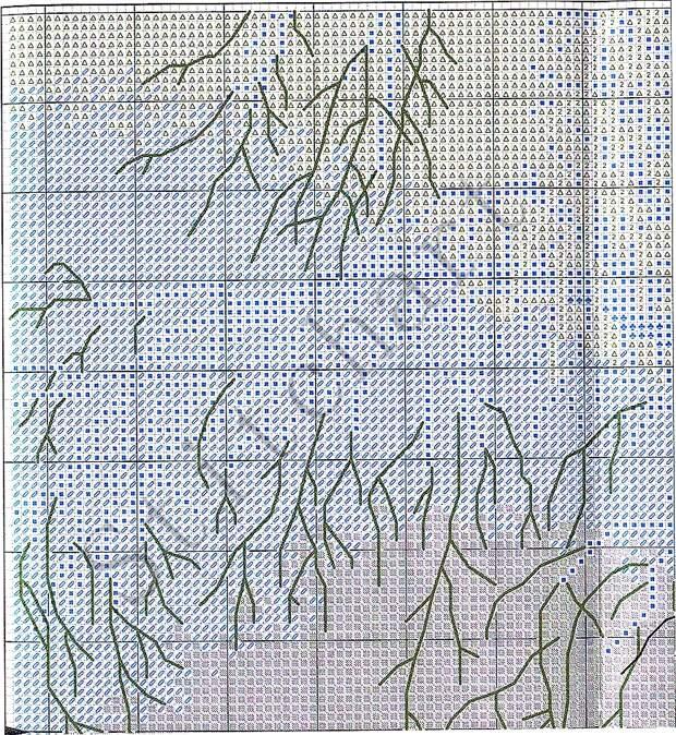 Вышивка «Зимние кружева»