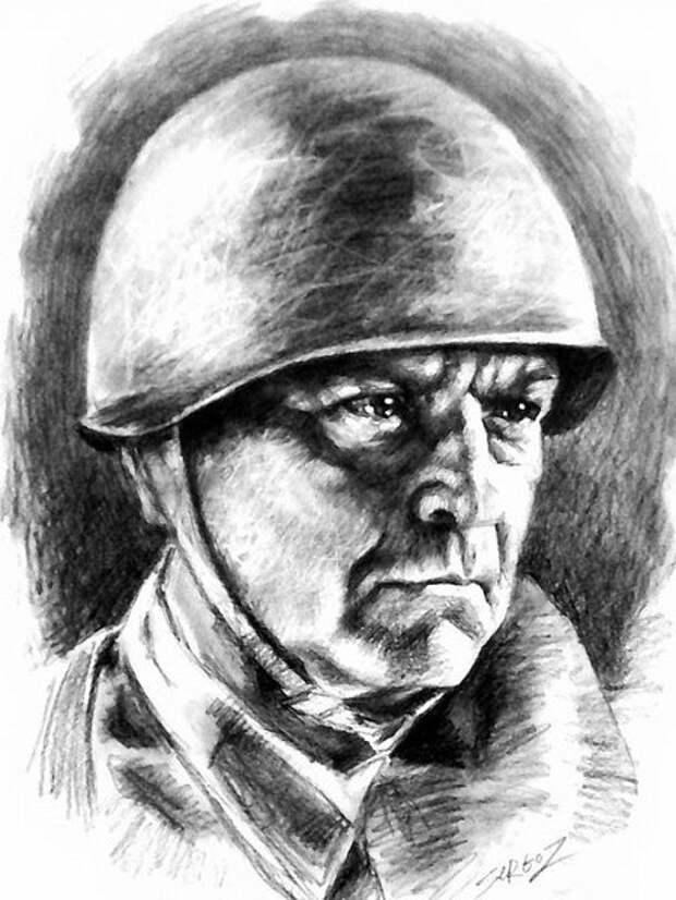 """Нарисованы карандашом герои фильма """"Они сражались за Родину""""."""